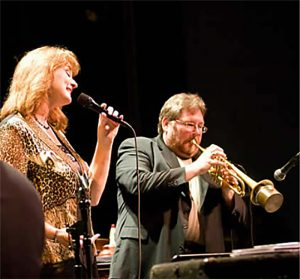 Jazz vocalist Lisa Kelly and trumpeter JB Scott